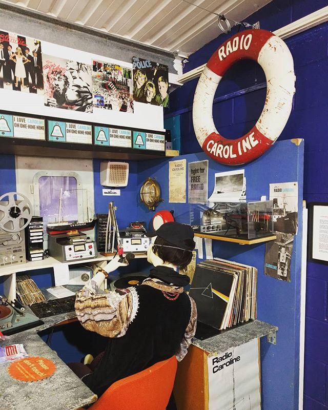 Radio Caroline in full swing at the Motor Museum