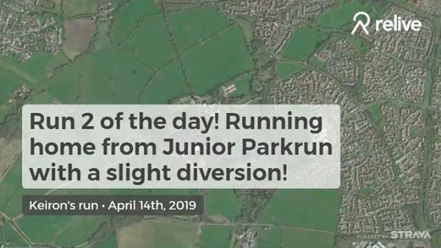 Run 2 of the day, running home from Junior #swindonparkrun #swindon #ukrunchat