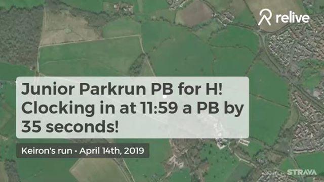 Run 1 Junior #swindonparkrun a PB for the little man!